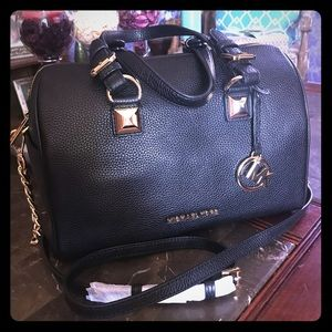 Michael Kors Grayson chain satchel leather bag